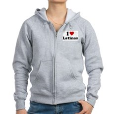 I Love [Heart] Latinas Womens Zip Hoodie