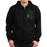 Greatest Stepmom Zip Hoodie (dark)