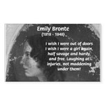 Novelist: Emily Bronte Rectangle Sticker