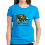 Couch Potato Jogging Women's Dark T-Shirt