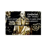 Confucius Rectangle Magnet