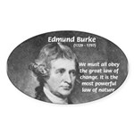 Edmund Burke Oval Sticker
