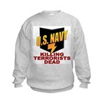 U.S. Navy Kills Terrorists Kids Sweatshirt