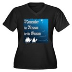 """Remember the Reason"" Women's Plus Size V-Neck Dar"