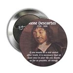 "Philosopher: Rene Descartes 2.25"" Button (100 pack"