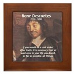 Philosopher: Rene Descartes Framed Tile