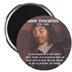 "Philosopher: Rene Descartes 2.25"" Magnet (100 pack"