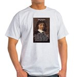 Philosopher Rene Descartes Ash Grey T-Shirt