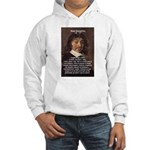 Philosopher Rene Descartes Hooded Sweatshirt