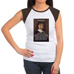 Philosopher Rene Descartes Women's Cap Sleeve T-Sh