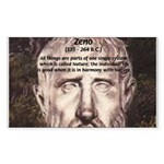 Stoic Philosophy: Zeno Rectangle Sticker
