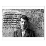 Ludwig Wittgenstein Small Poster