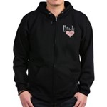 Bride in Love Zip Hoodie (dark)