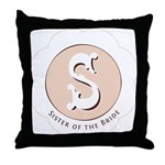 Market Sister of the Bride Throw Pillow