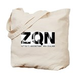 Queenstown Airport Code New Zealand ZQN Tote Bag