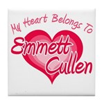 Emmett Cullen Heart Tile Coaster