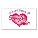 Emmett Cullen Heart Rectangle Sticker 50 pk)
