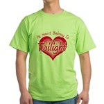 Heart Belongs Twilight Green T-Shirt