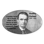 Steiner: Education School Oval Sticker