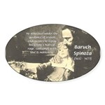 Rationalist Baruch Spinoza Oval Sticker