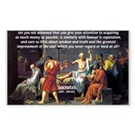 Truth and Wisdom: Socrates Rectangle Sticker