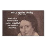 Romantic Poet Percy Shelley Rectangle Sticker