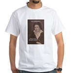Romantic Poet Percy Shelley White T-Shirt