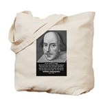 Playwright William Shakespeare Tote Bag
