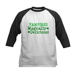 Vampires Magically Delicious Kids Baseball Jersey