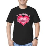 Heart Belongs Twilight Men's Fitted T-Shirt (dark)
