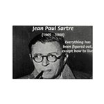 Existentialist Jean-Paul Sartre Rectangle Magnet