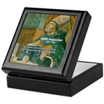 Saint Augustine of Hippo Keepsake Box