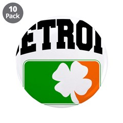 "Detroit Shamrock 3.5"" Button (10 pack)"