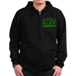 I'm Not White I'm Irish Zip Hoodie (dark)