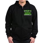 Bring on the Snakes Zip Hoodie (dark)