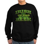Irish You Were Beer Shamrock Sweatshirt (dark)