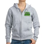 Team Green Women's Zip Hoodie