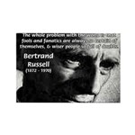 Philosopher Bertrand Russell Rectangle Magnet (100