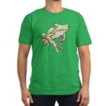 Painted Frog Men's Fitted T-Shirt (dark)