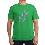 Subtle Peace Sign Men's Fitted T-Shirt (dark)