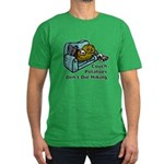 Couch Potato Hiking Men's Fitted T-Shirt (dark)