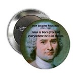 Philosopher Rousseau Button