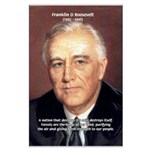 American President FDR Large Poster