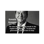 American President Reagan Rectangle Magnet (100 pa