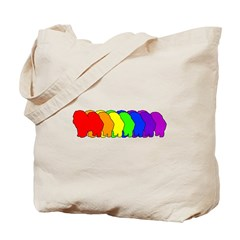 Rainbow Chow Chow Tote Bag