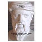 Greek Mathematician Pythagoras Large Poster