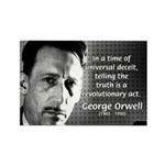 Novelist George Orwell Rectangle Magnet (10 pack)