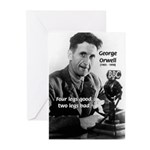 Modern Fable Writer Orwell Greeting Cards (Package