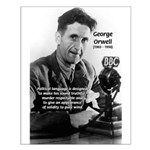 Politics / Language: Orwell Small Poster