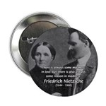 Nietzsche Love Madness Reason Button